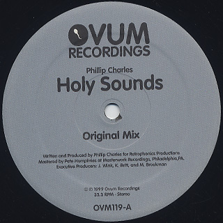 Phillip Charles / Holy Sounds back