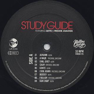 QSTN & Freddie Joachim / Study Guide label