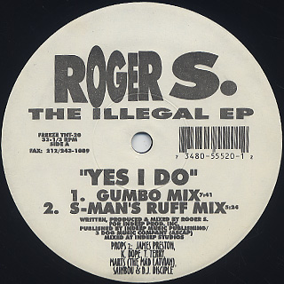 Roger S. / The Illegal EP back