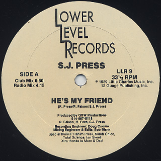 S.J. Press / He's My Friend