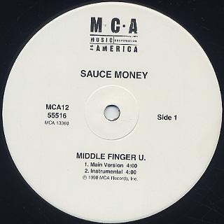 Sauce Money / Middle Finger U. label