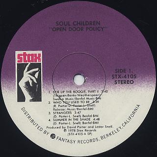 Soul Children / Open Door Policy label