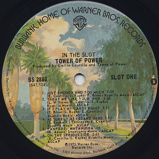 Tower Of Power / In The Slot label