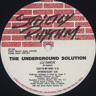 Underground Solution / Luv Dancin' back