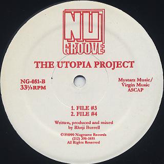 Utopia Project / File #1 back
