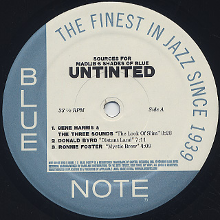 V.A. / Untinted (Sources For Madlib's Shades Of Blue) label