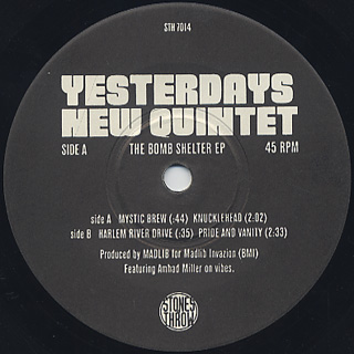 Yesterdays New Quintet / The Bomb Shelter EP label