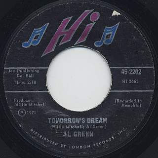 Al Green / Let's Stay Together c/w Tomorrow's Dream back