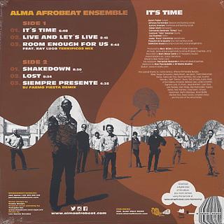 Alma Afrobeat Ensemble / It's Time back