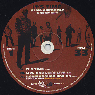 Alma Afrobeat Ensemble / It's Time label