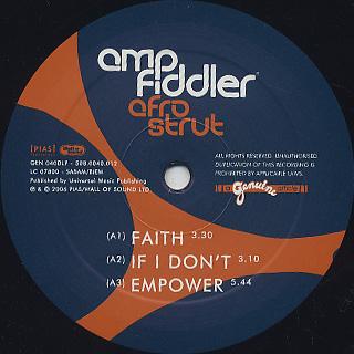 Amp Fiddler / Afro Strut label