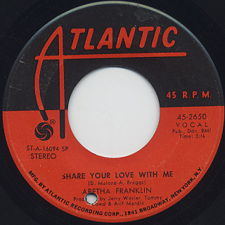 Aretha Franklin / Share Your Love With Me