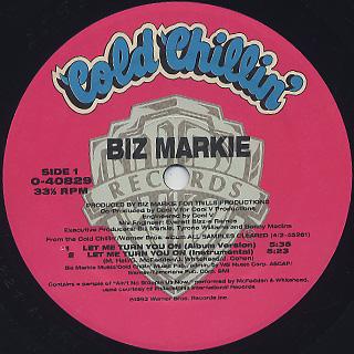 Biz Markie / Let Me Turn You On label