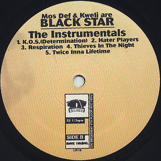 Black Star / Mos Def & Talib Kweli Are Black Star The Instrumentals label