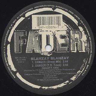 Blahzay Blahzey / Danger label