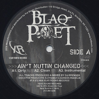 Blaq Poet / Ain't Nuttin Changed label