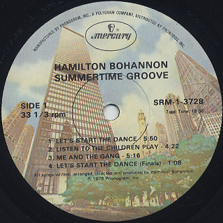 Bohannon / Summertime Groove label