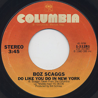 Boz Scaggs / Jojo c/w Do Like Do In New York back