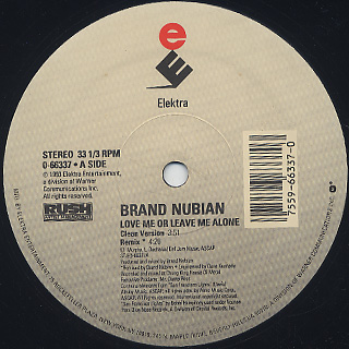 Brand Nubian / Love Me Or Leave Me Alone label
