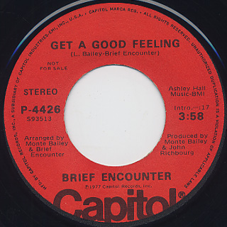 Brief Encounter / In A Very Special Way c/w Get A Good Feeling