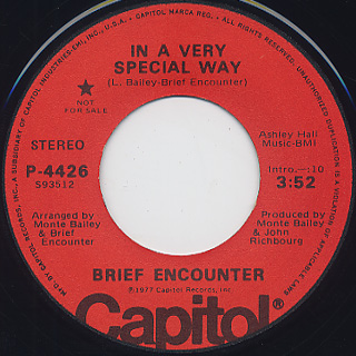 Brief Encounter / In A Very Special Way c/w Get A Good Feeling back