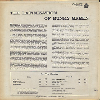 Bunky Green / The Latinization Of Bunky Green back