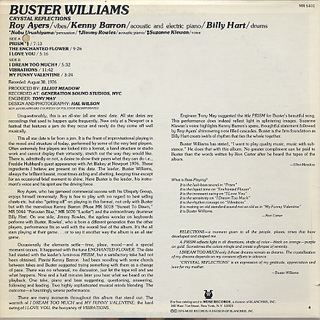 Buster Williams / Crystal Reflections back