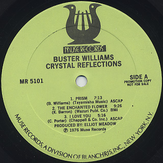 Buster Williams / Crystal Reflections label