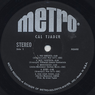 Cal Tjader / S.T. label