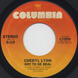 Cheryl Lynn / Got To Be Real (7