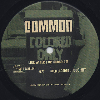 Common / Like Water For Chocolate (2LP) label
