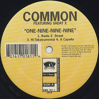 Common / One-Nine-Nine-Nine label