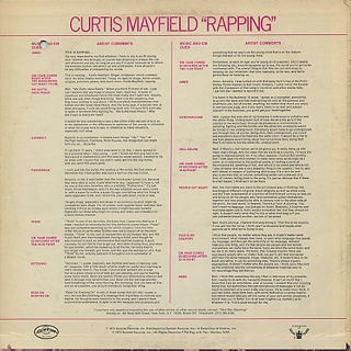 Curtis Mayfield / Rapping back