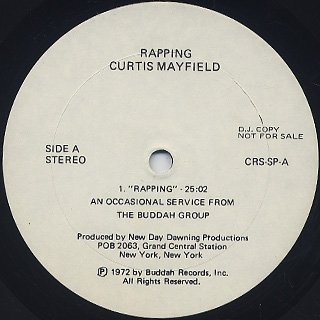 Curtis Mayfield / Rapping label