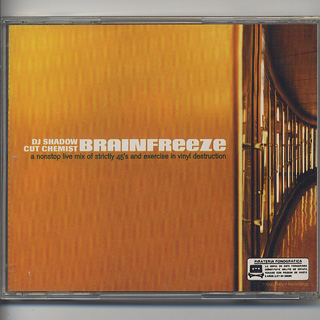 DJ Shadow & Cut Chemist / Brainfreeze (CD) back