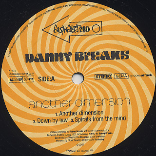Danny Breaks / Another Dimension label