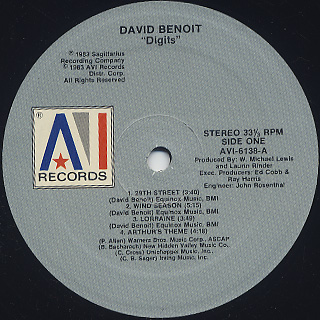 David Benoit / Digits label
