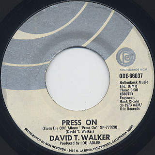 David T. Walker / Press On c/w Brother, Brother