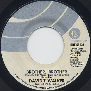 David T. Walker / Press On c/w Brother, Brother back