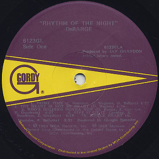 DeBarge / Rhythm Of The Night label