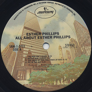 Esther Phillips / All About label
