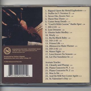 Galt MacDermot / Up From The Basement Unreleased Tracks - Volumes 1 & 2 (CD) back