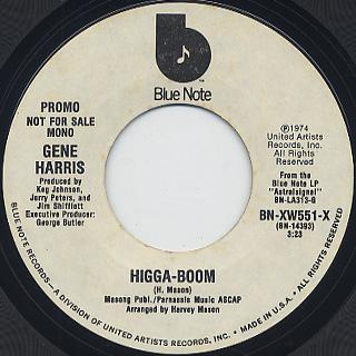 Gene Harris / Higga-Boom back