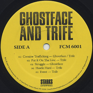 Ghostface Killah And Trife / Put It On The Line label
