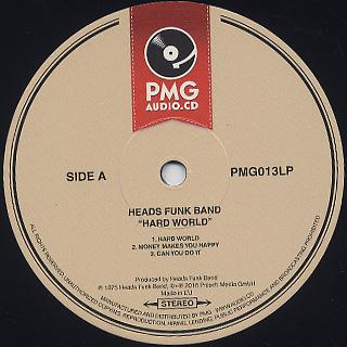 Heads Funk Band / Hard World label