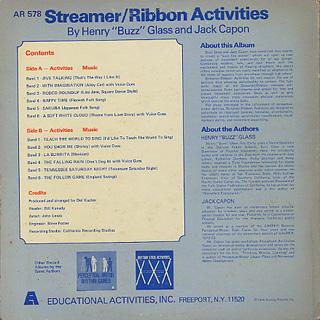 Henry Buzz Glass, Jack Capon / Streamer/Ribbon Activities back