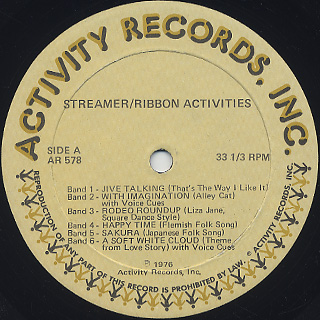 Henry Buzz Glass, Jack Capon / Streamer/Ribbon Activities label