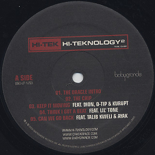 Hi-Tek / Hi-Teknology 2 The Chip (2LP) label