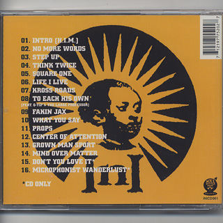 INI / Center Of Attention (CD) back