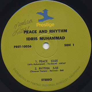 Idris Muhammad / Peace And Rhythm label